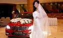 Hoa hậu Hương Giang duyên dáng váy cưới bên Mercedes C250