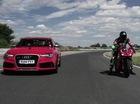 """Ducati 1199 Panigale R """"chọi"""" Audi RS6: Hai bánh lên ngôi"""