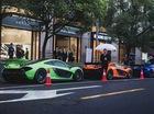 Bộ tứ siêu xe McLaren P1 nối đuôi nhau trên phố