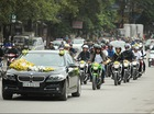 Hà Nội: Đám cưới được dàn xe Yamaha FZ150i hộ tống