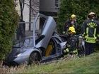 Vượt ẩu, siêu xe Lamborghini Murcielago hỏng hoàn toàn do tai nạn