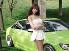 """Cô nàng """"kẹo ngọt"""" làm dáng cùng Audi A6L hạ gầm"""