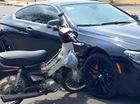Nóng trong ngày: Xe máy Dream đâm ngang BMW 650i và mắc kẹt