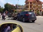 Nóng trong ngày: Hyundai Santa Fe húc đổ ô tô tải chở gạch
