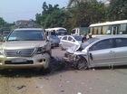 Nóng trong ngày: Nữ tài xế lái Toyota Vios gây tai nạn liên hoàn