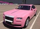 Cận cảnh Ghost màu hồng do chính hãng Rolls-Royce chế tạo