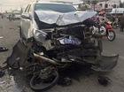 Toyota Fortuner biển xanh đâm xe máy, một người đứt lìa chân