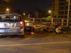 Vợ tài xế taxi khai chồng uống rượu trước khi gây tai nạn trên cầu vượt