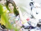 Thiếu nữ Hà thành duyên dáng với Yamaha Grande