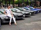 """Chân dài Phạm Thanh Hằng tạo dáng bên """"rừng"""" xe Audi R8"""