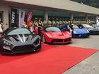 Dàn siêu xe hùng hậu tham gia buổi khai trương cửa hàng