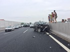 Ba chiếc Toyota gặp nạn kinh hoàng trên cao tốc Hà Nội - Hải Phòng