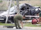 Bình Dương: Toyota Altis tông ngang thân vào trụ đèn, Chánh Thanh tra sở tử vong
