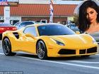 """Em gái cô Kim """"siêu vòng ba"""" tậu Ferrari 488 Spider màu vàng rực mới"""