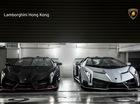 Vẻ đẹp nghẹt thở của cặp Lamborghini Veneno Roadster vừa đến Hồng Kông