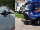 Bắc Ninh: Va chạm với xe đầu kéo, ô tô con lao xuống sông, 1 người tử vong