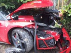 Ferrari 458 Italia của nhà giàu Singapore gặp nạn tại Thái Lan