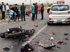 Hà Nội: Đối đầu với taxi, xe côn tay Honda Winner 150 nát bét