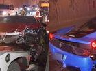Cặp đôi siêu xe Lamborghini Huracan và Ferrari 458 Italia gặp tai nạn trong đường hầm