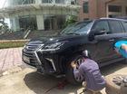 Quảng Ninh: Lexus LX570 2016 chưa biển trôi dốc, đâm vào cột điện