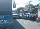 Nam Định: Ford Focus và Range Rover Evoque đâm nhau, gây tai nạn liên hoàn