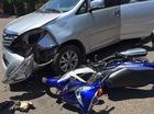 """Bình Định: Va chạm với Yamaha Exciter, Toyota Innova """"toác đầu"""""""