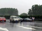 Lại thêm một chiếc Lamborghini Aventador đen đủi gặp nạn trong cơn mưa lớn
