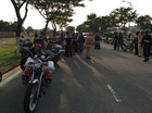 """Video dàn mô tô """"khủng"""" chạy trên đường Đà Nẵng trước khi bị CSGT bắt"""