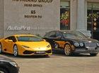 """""""Tóm gọn"""" cặp đôi Lamborghini và Bentley biển """"tứ quý"""" đi chơi Tết"""