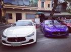 Bộ đôi Maserati cùng siêu xe Mercedes AMG GTS tụ tập tại Hà thành