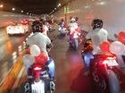Hàng chục mô tô phân khối lớn rước dâu tại Sài thành