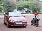 """Bắt gặp """"hàng hot"""" chưa ra mắt Hyundai Elantra 2016 cùng cầu thủ Thành Lương"""