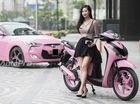 Sau Hyundai Veloster, bà mẹ 9X sơn màu hồng cho Honda SH