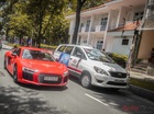 Anh em Phan Thành lái bộ đôi siêu xe dạo phố Sài Gòn