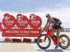 Bỏng mắt với Hoa hậu Hoàn Vũ Costa Rica đạp xe tại Nha Trang