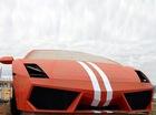 Bức tượng điêu khắc Lamborghini Gallardo khổng lồ bốc cháy
