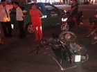Đồng Nai: Người đi xe máy say rượu đâm vào taxi, 1 người nhập viện