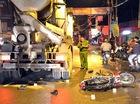 Xe bồn tông chết 2 công nhân trong đêm ở Sài Gòn