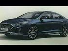 """Sedan cỡ trung Hyundai Sonata 2018 lần đầu tiên """"hiện nguyên hình"""""""