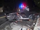 Siêu xe Lamborghini Aventador của ca sỹ Chris Brown bị phá nát trong tai nạn