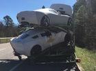 3 chiếc xe thể thao Chevrolet Corvette mới xuất xưởng đã bị hỏng nặng