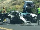 Hiện trường rùng mình của vụ tai nạn khiến một chiếc Chevrolet bị xé làm đôi theo chiều dọc
