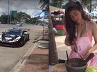 """Tay chơi Thái lái Lamborghini Huracan độ """"khủng"""" đi mua gỏi đu đủ do hot girl bán"""