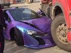 McLaren 650S Spider màu tím gặp nạn khi đua xe trên phố
