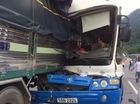 Bốn xe tải tông nhau trên đèo Bảo Lộc, 1 xe rơi xuống vực