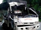 Xe tải gặp nạn, thượng úy công an tử vong
