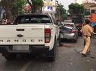 Hà Nội: Va chạm liên hoàn trên phố Bà Triệu, 3 người bị thương trong đó có 1 nạn nhân mặc đồng phục học sinh