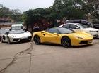 """Bộ đôi siêu xe Ferrari và Lamborghini """"rủ nhau"""" đi đăng kiểm tại Hà Nội"""