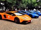 """Xem dàn siêu xe Lamborghini """"khủng"""" của các tay chơi Nhật tụ tập"""