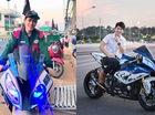 """""""Hot boy"""" lái siêu mô tô BMW S1000RR đi đưa pizza gây sốt trên mạng"""